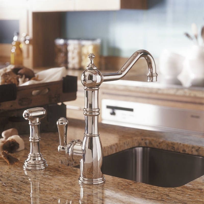 Country Kitchen Taps: 4746 Perrin & Rowe Aquitaine Single Mixer Tap With Single